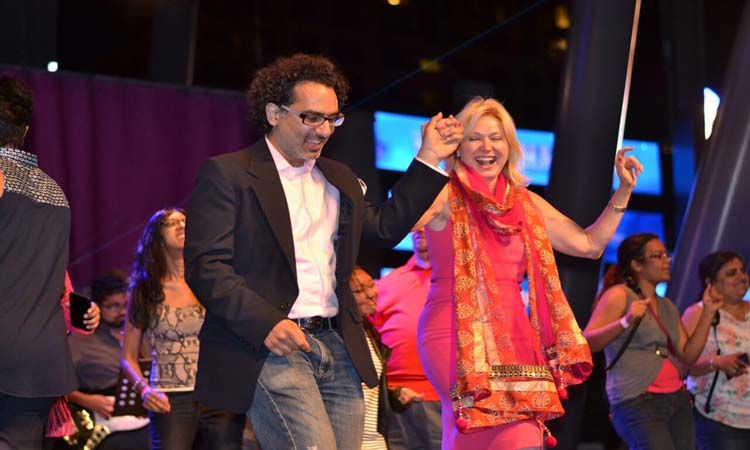 Mississauga mayor Bonnie Crombie dances to a Bollywood number at Bollywood Monster Mashup