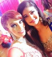 Achiever Amitha Mundenchira with Bollywood actress Pooja Batra