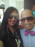 Sathish Bala (R) with Co-founder Kala Patel