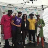 The Kominas with Kala Patel (C), cofounder desiFEST